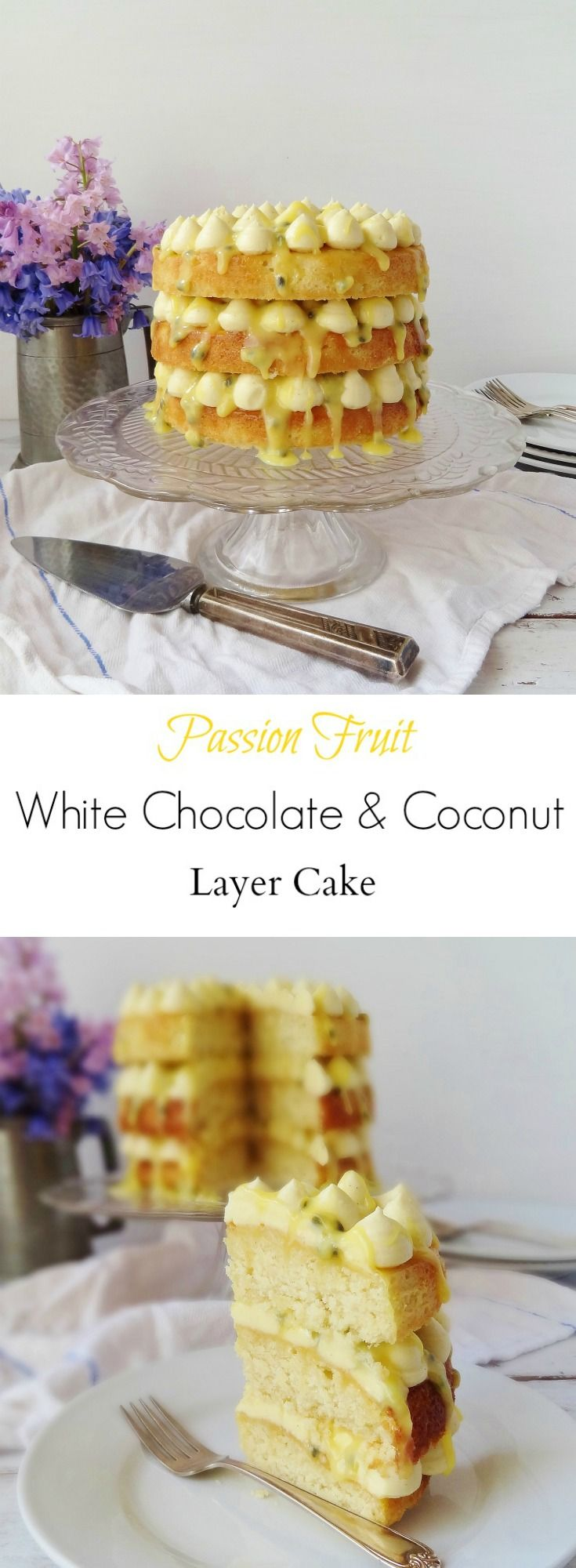Passion fruit, coconut and white chocolate layer cake - Domestic Gothess