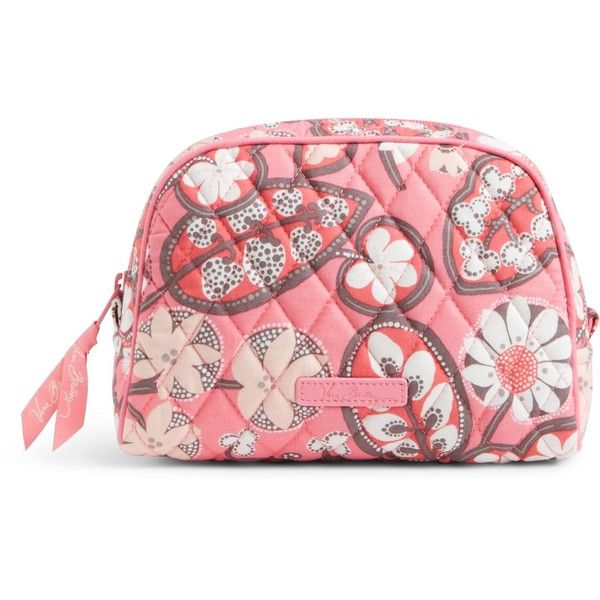 Vera Bradley Medium Zip Cosmetic in Blush Pink ($28) ❤ liked on Polyvore featuring beauty products, beauty accessories, bags & cases, blush pink, cosmetic bag, toiletry kits, wash bag, vera bradley and vera bradley makeup bag