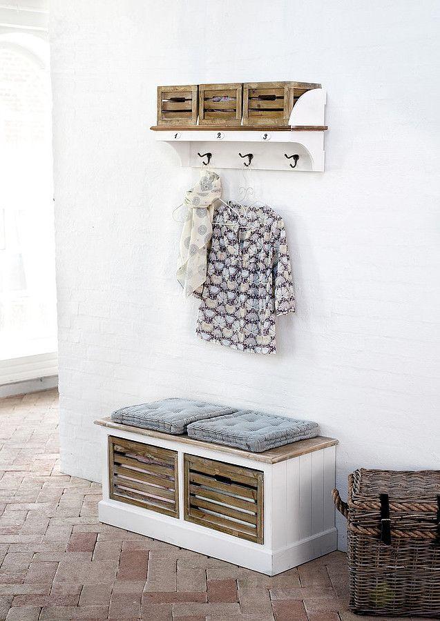 Biała ławka drewniana Louise Brown 1