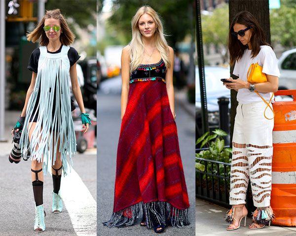Уличная мода весна-лето 2015: Бахрома