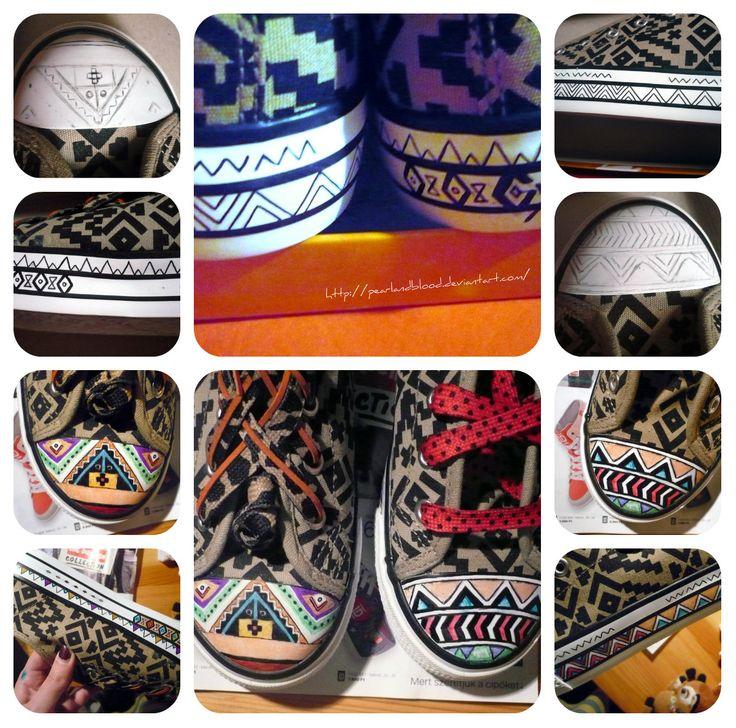 1. Buy shoes 2. Decorate it! 3. Wear! 4. Enjoy! ;)