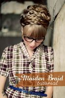 Maiden braid- nice with hair down at the back. I don't have a fringe so perhaps with just bits of hair down and then pinned back