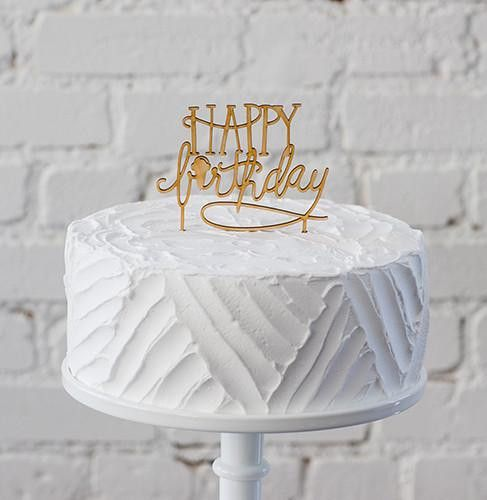 "Birthdays are a little brighter with our fun birthday cake topper. (I love the little hidden ice cream cone as the ""I""!) • Reusable, just hand wash with warm water and soap • Lasercut from baltic birc"