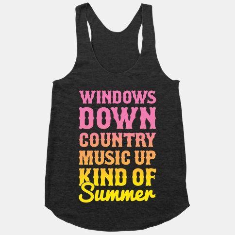 Windows Down Country Music Up - Medium