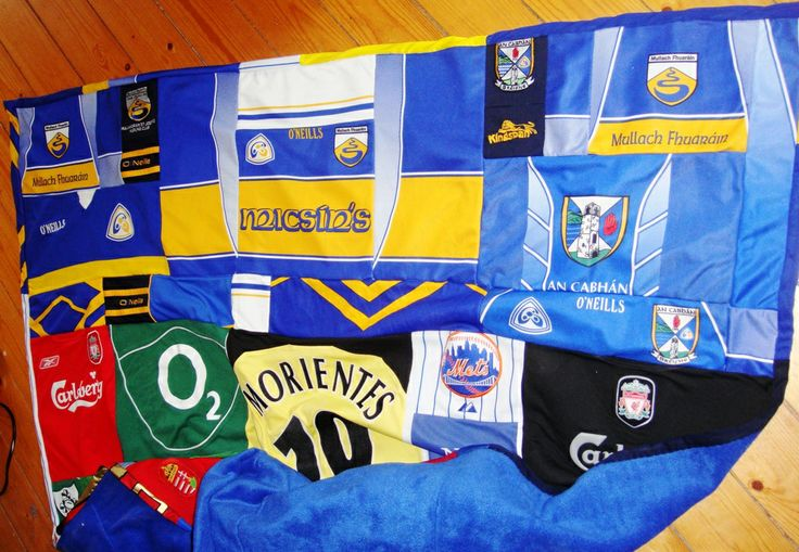 Memory quilt made from football/soccer/gaelic jerseys