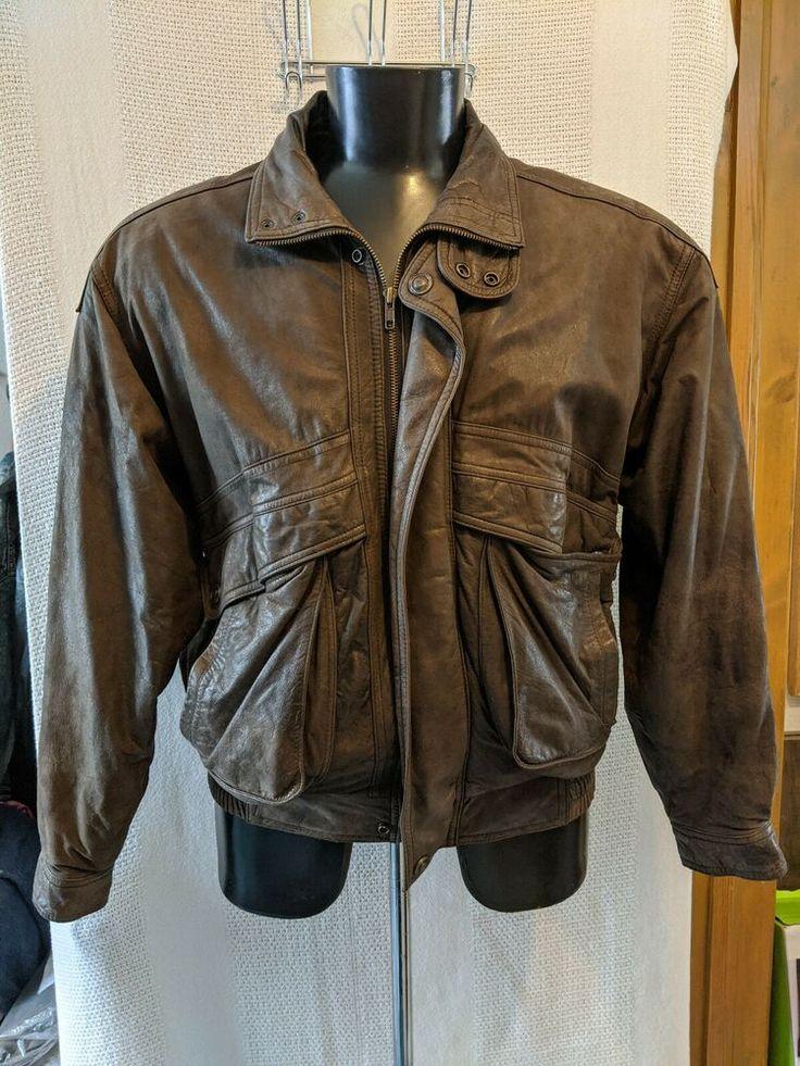 VTG Adventure Bound Wilson's Brown Leather Bomber Jacket