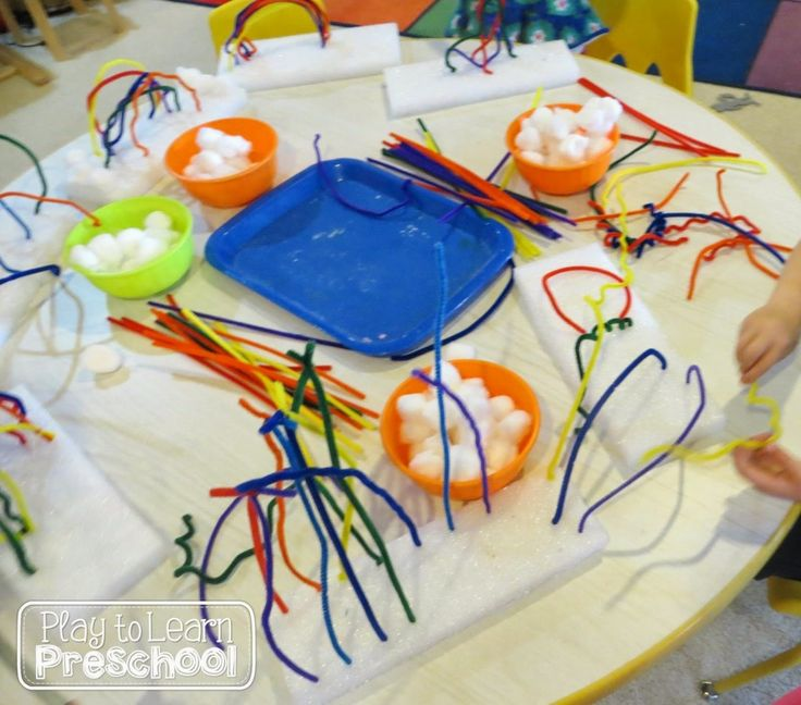 We were inspired to make these cool rainbow pipe cleaner projects by Still Playing School.  Most of the art projects that we do in class are two dimensional, so I was excited to give this one a try.   The center included colorful pipe cleaners, cotton balls, and rectangular pieces of styrofoam. Many of the... Read More »