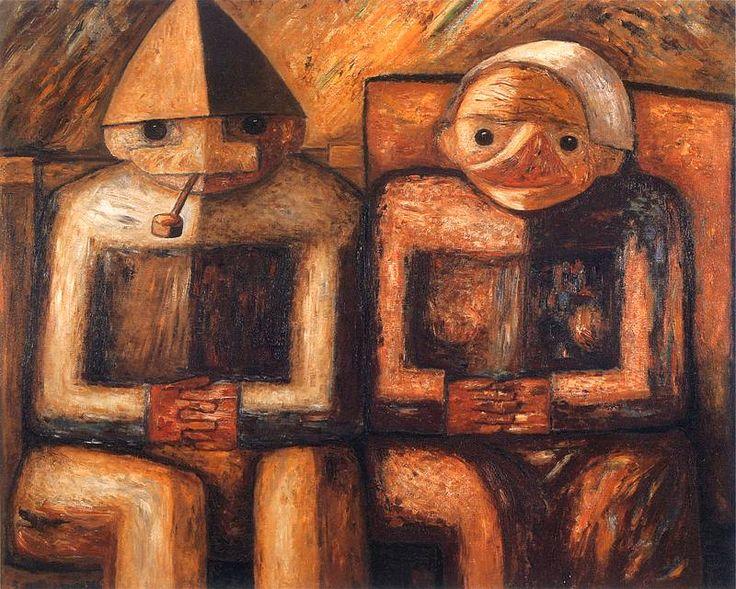 Tadeusz Makowski - Dziad i baba, 1930