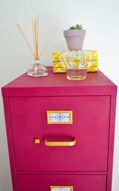 gold painted file cabinet - Google Search
