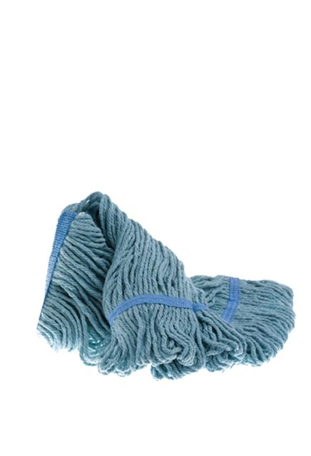 Wet mop head, loop, narrow band: Wet mop composed of a mixed yarn