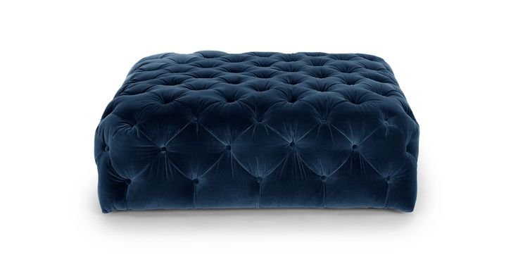 Diamond Cascadia Blue Ottoman - Ottomans - 41x41 Article | Modern, Mid-Century and Scandinavian Furniture