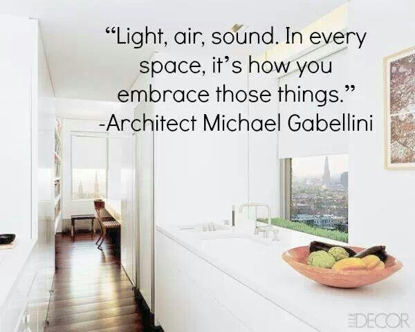 Light, air, sound...