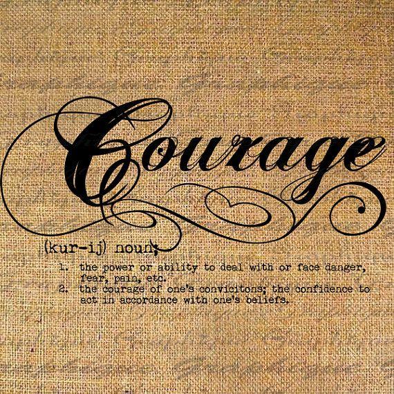 Courage, via Etsy.