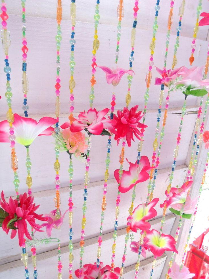 Cortina de Miçanga e Flores  Quartos, Beads and Flower