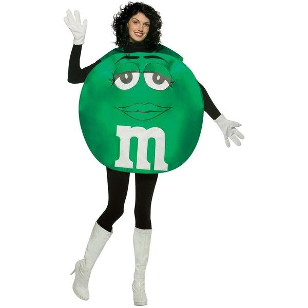 M&Ms Green Poncho Adult Costume ($39) ❤ liked on Polyvore featuring costumes, halloween costumes, white party costumes, party costumes, green m&m costume, green poncho and green costumes