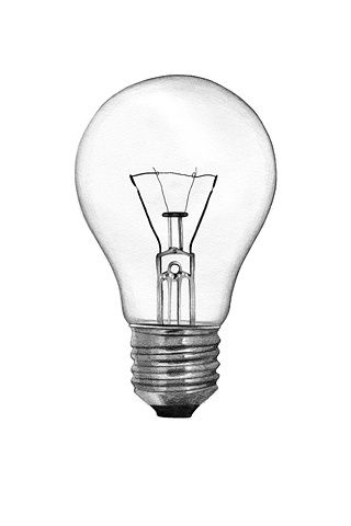 Pencil, Drawing, art, lightbulb