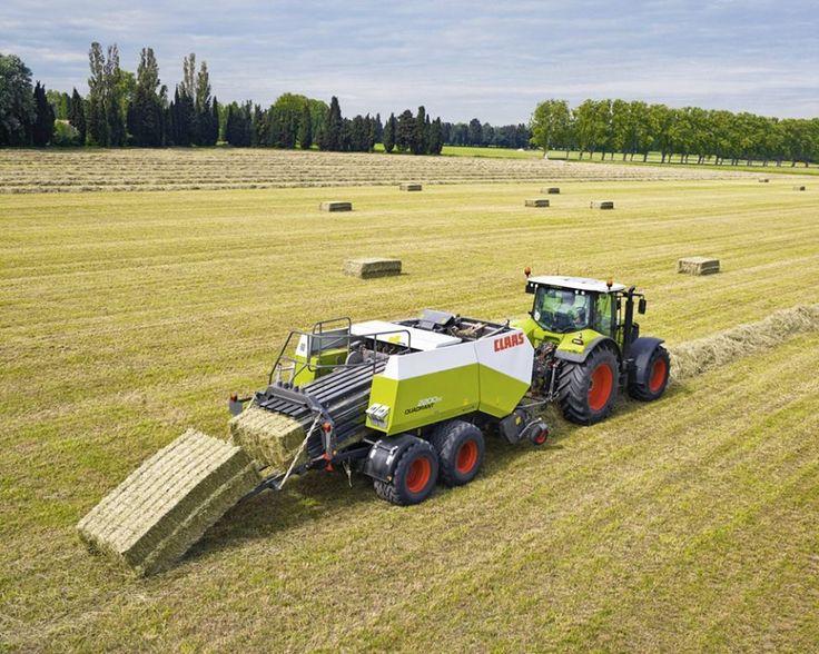 CLAAS traktor+bálázó