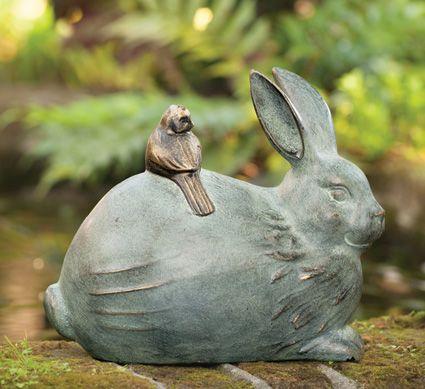 Bunny Gardeners With Basket