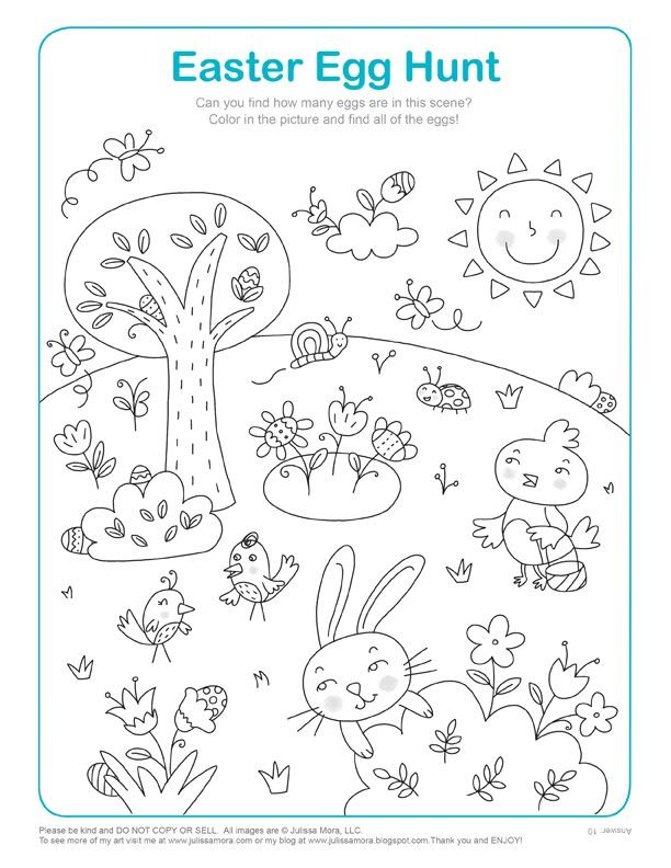 Julissa Mora: Coloring Page Easter Egg Hunt
