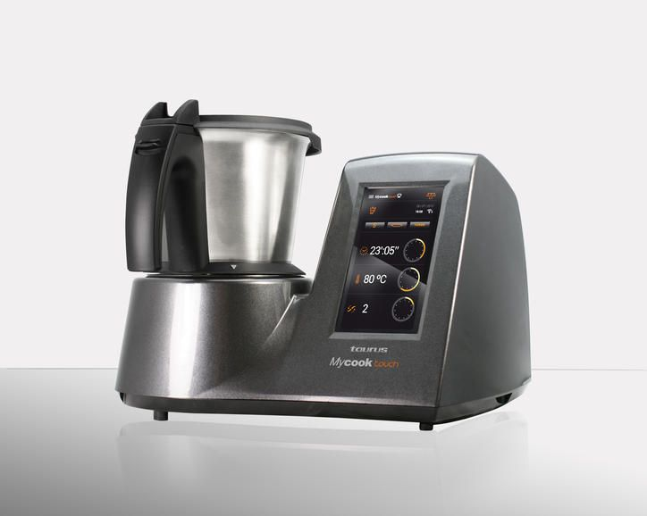 The Taurus Mycook Touch is like a small-kitchen-appliance Swiss Army Knife. It's designed to chop, whip, blend, emulsify, fry, and knead, and there's an accessory kit that lets you do all sorts of other stuff, too. But, unlike all of its multigadget predecessors, the Mycook Touch is smart.