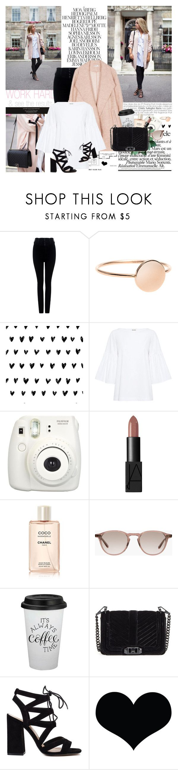 """""""Fleur De Force"""" by mars ❤ liked on Polyvore featuring Citizens of Humanity, SUNO New York, Fujifilm, NARS Cosmetics, Chanel, Hampton Sun, Rebecca Minkoff and Brika"""