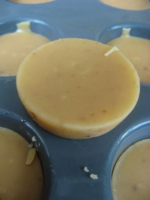 Scottish fudge (Tablet) - with my mum's recipe! I've made it in silicone mini-muffin pans here, and it came out great!