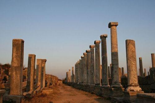 Hellenistic ruins, Perge, Antalya, Turkey
