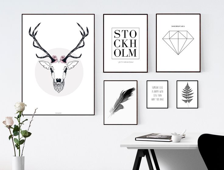 Decorate your home office with some posters and art prints. From desenio.se.