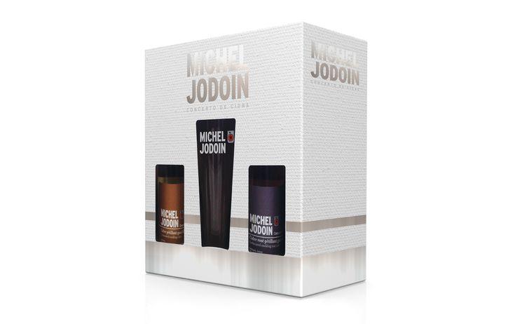 Emballage créé pour les coffrets-cadeaux de la Cidrerie Michel Jodoin
