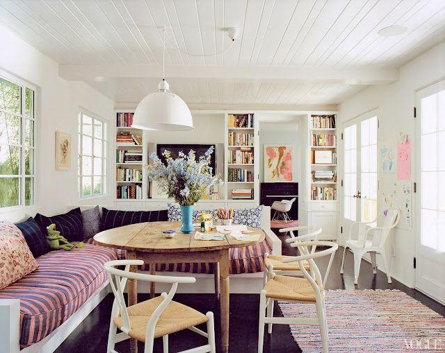 rikshaw design: house envy: Dining Room, Interior, Amanda Peet S, Breakfast Nooks, Living Room, Wishbone Chair, House, Kitchen, Space