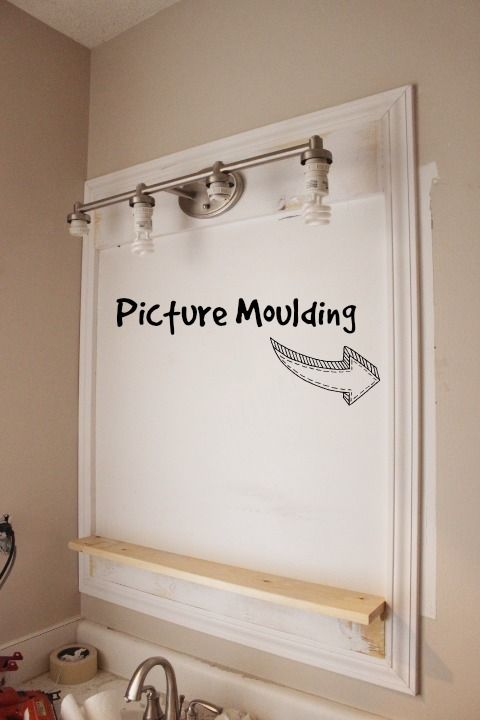 Pottery Barn Inspired Bathroom Mirrors