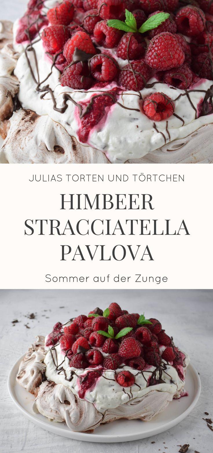 Himbeer Stracciatella Pavlova Luftige lässige Pavlova, ein Klassiker aus Neuseeland …   – Kuchen, Torten, Muffins, Cupcakes naschen mit der Erdbeerqueen