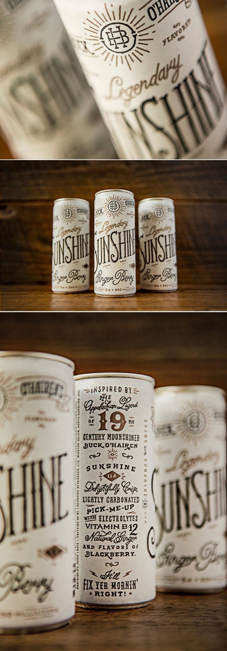 Buck O'Hairen's Sunshine Beer Packaging — The Dieline - Branding & Packaging Design..