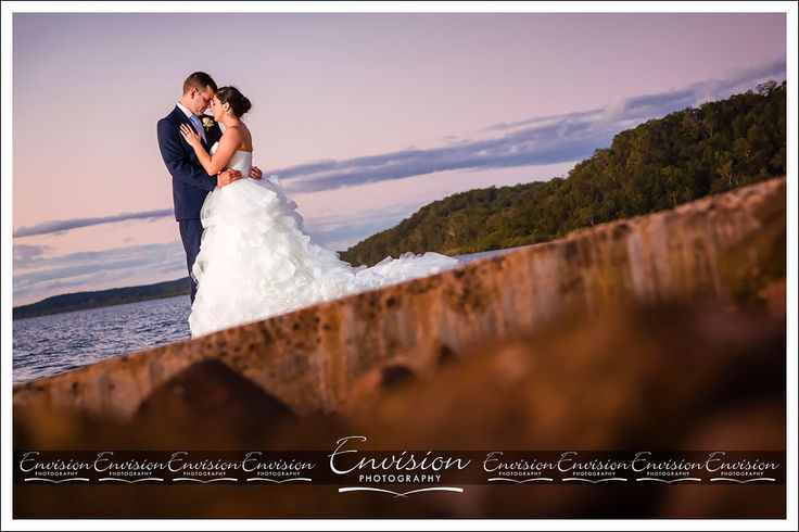 Monique and Tim + Sunset + Boat Ramp= Magical :) @kingfisherbay