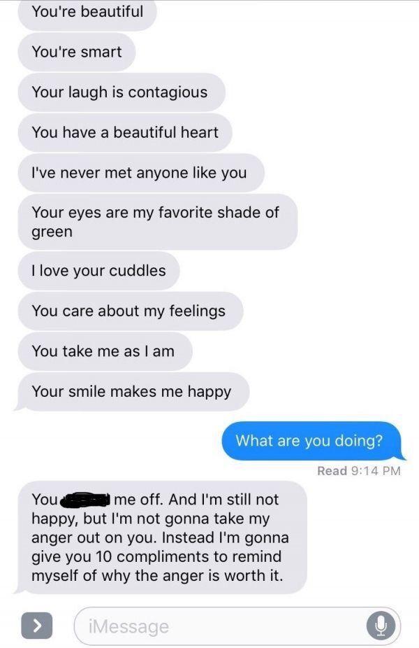 Søde beskeder til kæresten