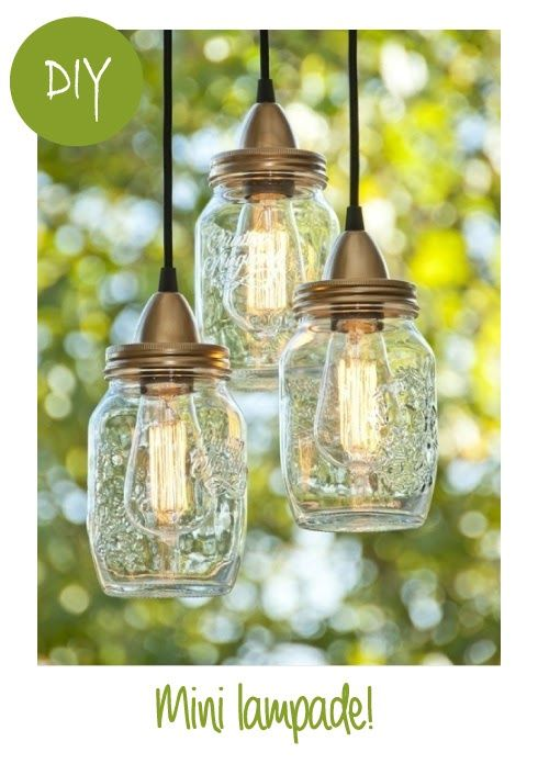 These look really simple just with light bulbs a jar and of corse somewhere where you can hang them