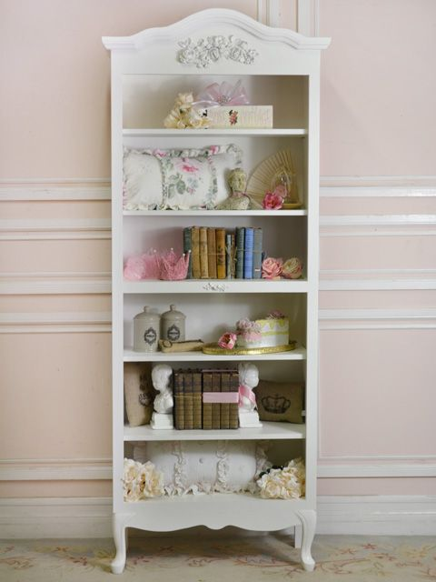 "This book case is 82.5""T x 33""W x 14""D. The middle shelf with the applique is stationary whereas top two shelves and the bottom two shelves are adjustable."