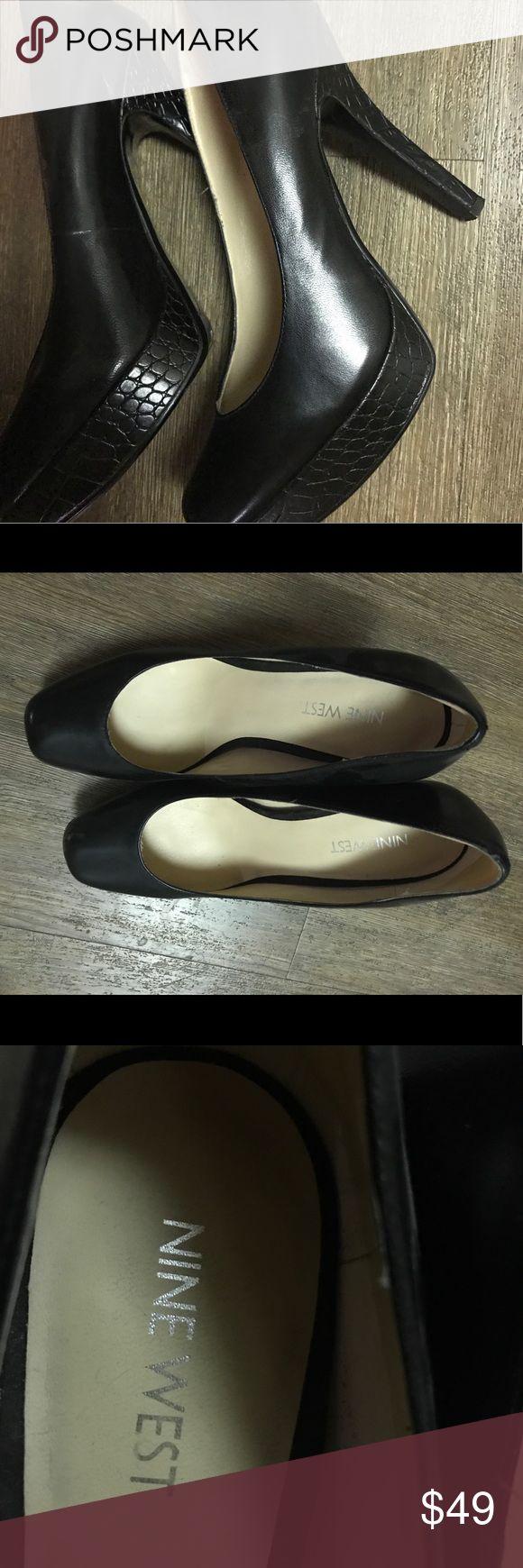 Nine West Heels - Leather Nine West Heels - Leather - Black Nine West Shoes Heels