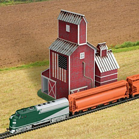 Sculptural Train Accessory: Country Grain Elevator