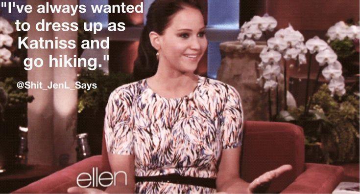 Jen on Ellen XD #ShitJenSays
