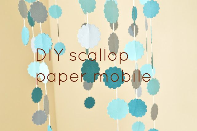 Bringing up Emilu: DIY ombre paper mobile