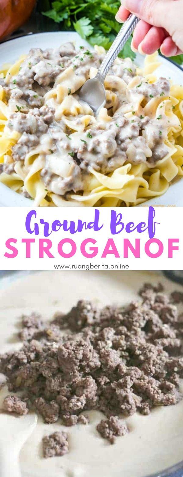Ground Beef Stroganoff #dinner #lunch #ground #beef #strogranoff