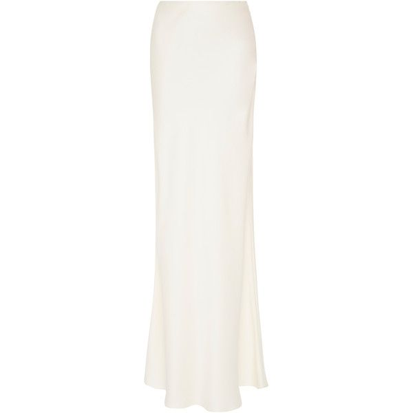 SemSem Long Skirt ($750) ❤ liked on Polyvore featuring skirts, white, high waist skirt, white high waisted maxi skirt, white skirt, high-waisted skirt and high waisted long skirts