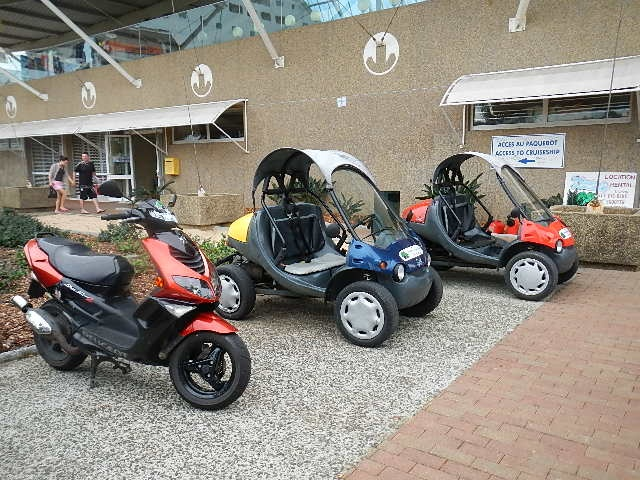 Buggies for hire in Noumea, New Caledonia.
