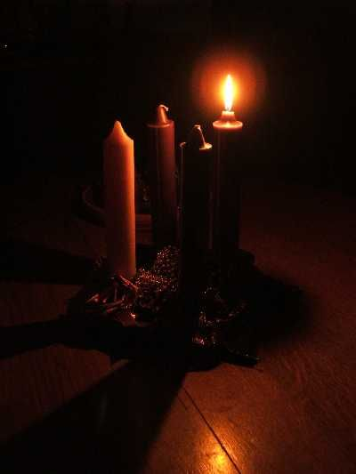 First Sunday of Advent. First candle symbolizes hope. #advent