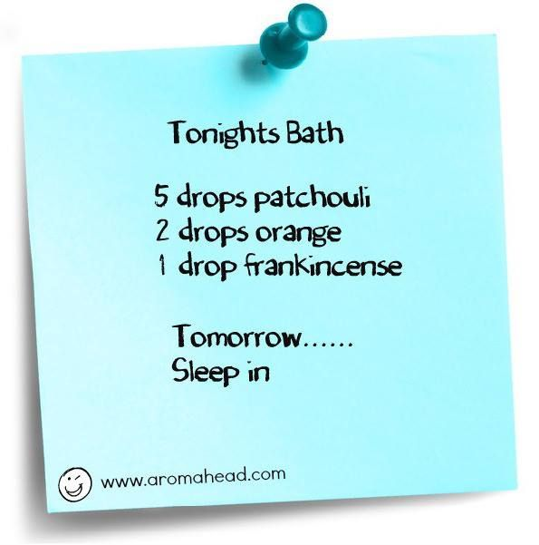 Sleep in tomorrow with this essential oils blend in tonight's bath