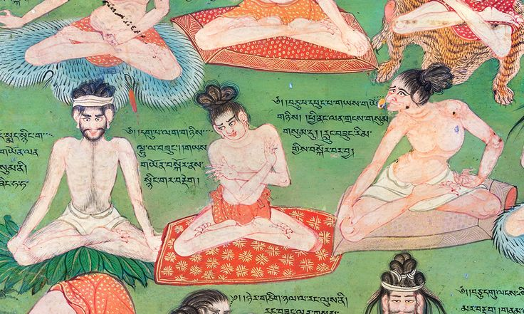 Tibeti falfestmény Ca-Lung gyakorlatok