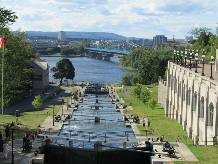 Lock at the Rideau Canal in Ottawa