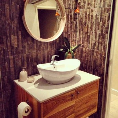 contemporary bathroom vanity – solid wood