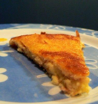 Italian Potato Cake with Raw Ham and Mozzarella Cheese